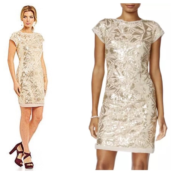 6ecc82ee9b939 VInce Camuto Sequin Embellished Cocktail Dress
